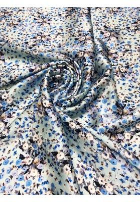 Satyna jedwabna niebieska łąka - 1