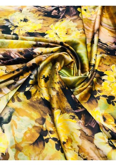 Satyna jedwabna jesienne kwiaty - 1