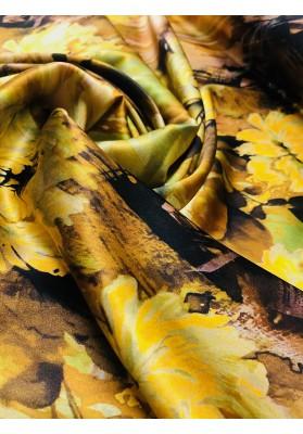 Satyna jedwabna jesienne kwiaty - 2