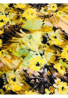 Satyna jedwabna jesienne kwiaty - 3