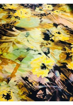 Satyna jedwabna jesienne kwiaty - 4