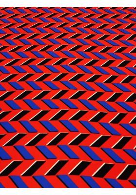 Satyna jedwabna druk na matowej stronie zyg-zag - 1