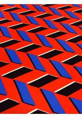 Satyna jedwabna druk na matowej stronie zyg-zag - 3