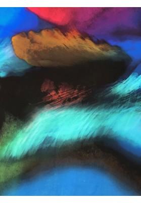 Satyna jedwabna druk na matowej stronie kolorowa chmura - 1