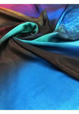 Satyna jedwabna druk na matowej stronie kolorowa chmura - 3