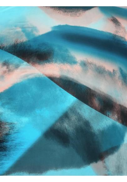 Satyna jedwabna druk na matowej stronie kolorowa chmura II - 1