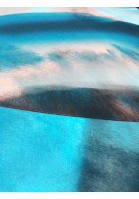 Satyna jedwabna druk na matowej stronie kolorowa chmura II - 2