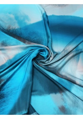 Satyna jedwabna druk na matowej stronie kolorowa chmura II - 3