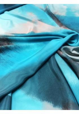 Satyna jedwabna druk na matowej stronie kolorowa chmura II - 4