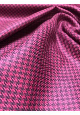 Wełna kostiumowa kurza stopa fiolet - 5