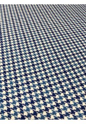 Wełna kostiumowa kurza stopa niebieska - 1