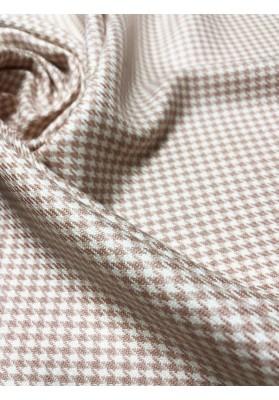 Wełna kostiumowa kurza stopa drobna róż - 1