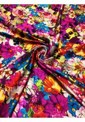 Satyna jedwabna multikolor kwiat - 1