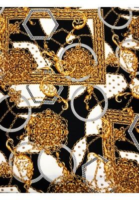 Satyna jedwabna złote łańcuszki - 1