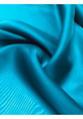 Organza jedwabna morski niebieski - 1