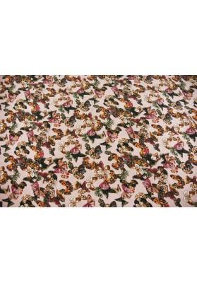 Cupro motyle na różu - 0