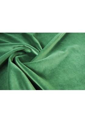 Aksamit bawełniany butelkowa zieleń - 0