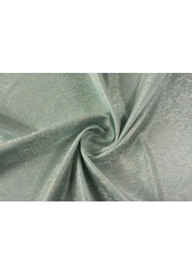 Żakard paisley drobny wzór na błękicie - 0