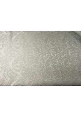 Żakard tłoczony srebrny paysley - 0