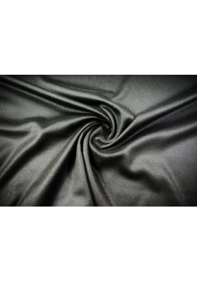 Wełna płaszczowa czarna - 0
