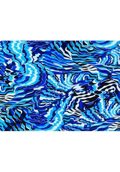 Satyna jedwabna niebieski wiraż - 1