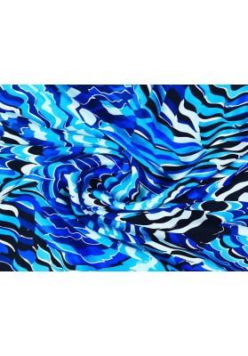 Satyna jedwabna niebieski wiraż - 2