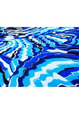 Satyna jedwabna niebieski wiraż - 3