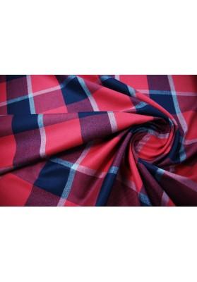 Wełna ubraniowa krata czerwona - 0