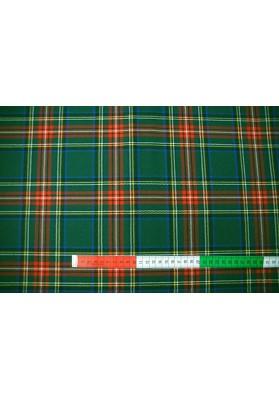 Wełna ubraniowa krata szkocka zieleń - 0