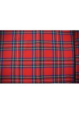 Wełna ubraniowa krata szkocka czerwień - 0