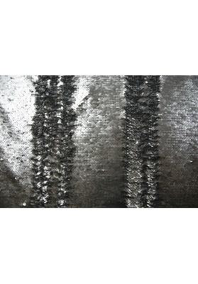 Cekiny dwustronne popiel/grafit - 0