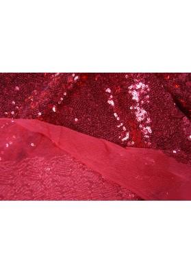 Cekiny drobne kółka czerwień - 0