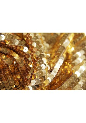 Cekiny na jedwabiu złoto - 0