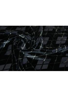 Welur romby na czerni - 0