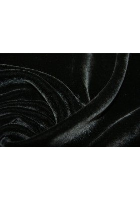 Welur czarny - 0