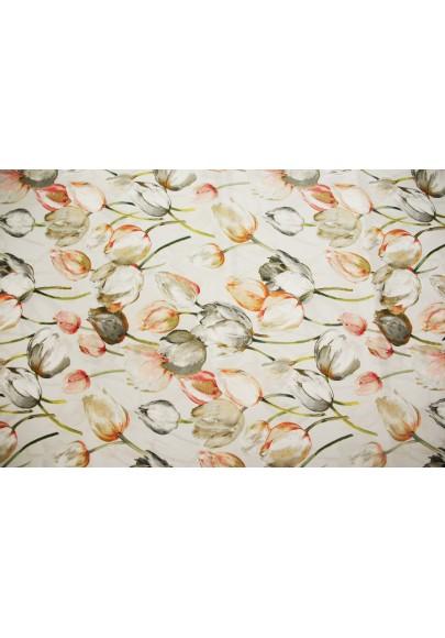 Krepa jedwabna tulipany - 0
