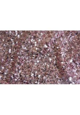 Cekiny ombre srebrno-różowe - 0