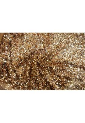 Cekiny złote na tiulu - 0