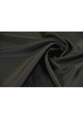 Wełna ubraniowa czarna double satin premium - 0