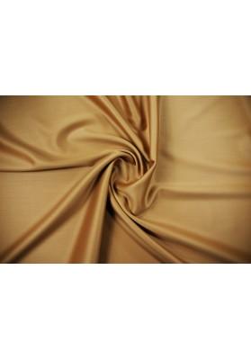 Wełna ubraniowa beż/camel double satin premium - 0