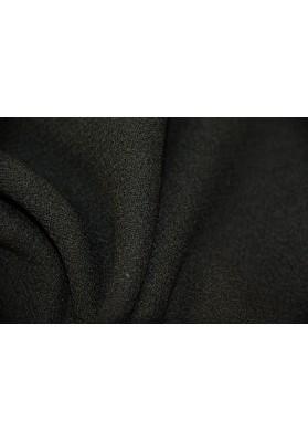 Wełna ubraniowa Doppio Creppe czarna - 0