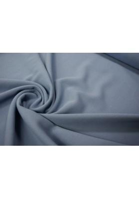 Wełna krepa ubraniowa przygaszony niebieski - 0