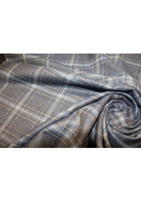 Wełna ubraniowa krata - 0