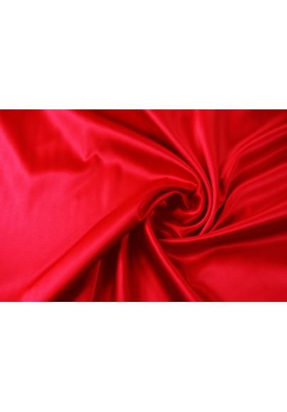 Satyna jedwabna z elastanem czerwień - 0