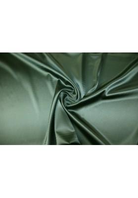 Satyna jedwabna z elastanem oliwka - 0