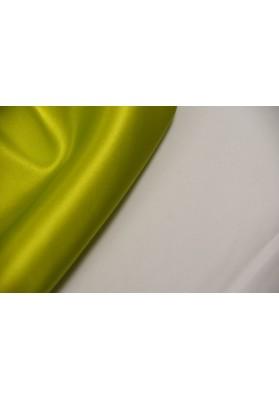 Satyna jedwabna z elastanem zieleń fluo - 0