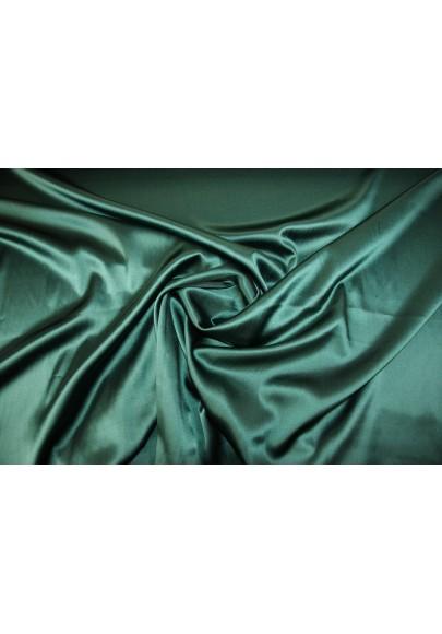 Satyna jedwabna z elastanem morska zieleń - 0
