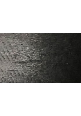 Cekiny grafitowe na tiulu - 0
