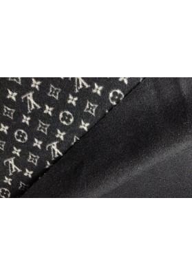 Wełna płaszczowa LV kaszmir czarny - 0