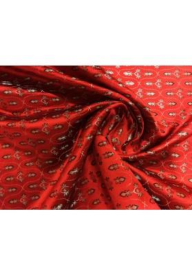 Żakard ornament czerwień - 3